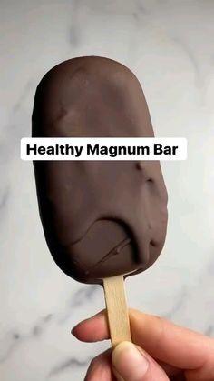 Vegan Sweets, Healthy Dessert Recipes, Vegan Desserts, Healthy Desserts, Vegetarian Recipes, Magnum Ice Cream Bars, Healthy Desayunos, Healthy Ice Cream, Fun Baking Recipes