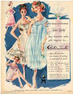 BALMORAL AD FAIR LADY LINGERIE Vintage Advertising 1958 Original Advert