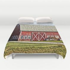 Wisconsin Old Barn 4 Duvet Cover by Photography By MsJudi - $99.00
