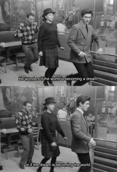 """Famous dance scene in Bande à part (Band of Outsiders) (1964), """"the Madison."""""""