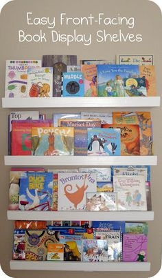 Easy Front-Facing Picture Book Display Shelves