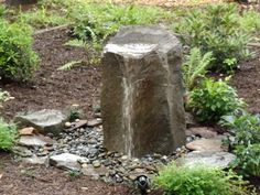 Basalt Birdbath Fountain, our third best selling fountain. You can leave it running even in winter (birds need water in winter too) Birds just love this fountain and you will too, because it changes its own water, no more mess! Plus it's easy to install. To see a video of this fountain follow the link into our web-site. WE SHIP 540 948-2239