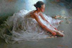 Ballerina paintings by Stephen Pan