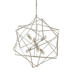 Aerial Silver Granello 31-Inch Six-Light Pendant