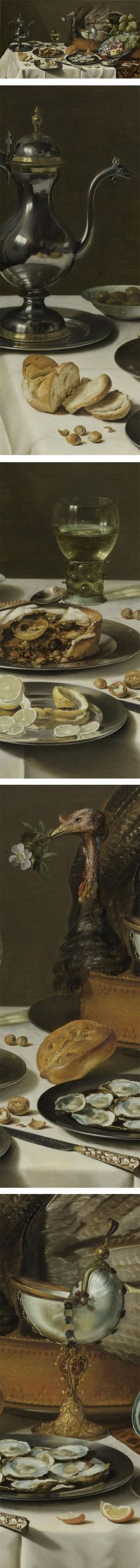 Still Life with a Turkey Pie, Pieter Claesz, 1627
