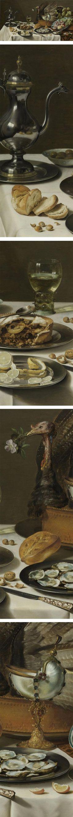 Still Life with a Turkey Pie, Pieter Claesz, 1627