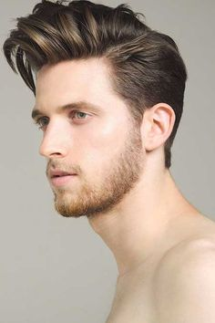 Shaved Sides Pompadour Hairstyle Men   Modern Pompadour Hairstyle