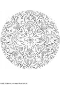 coloring page mandala 1702h