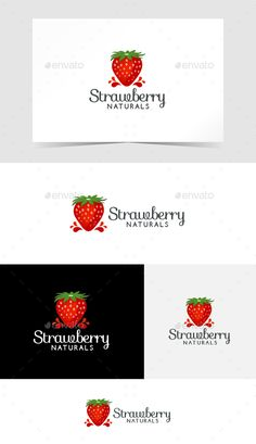 Buy Strawberry Logo Template by on GraphicRiver. You can use this logo template for your food or Strawberry business. Food Logo Design, Logo Food, Nature Green, Word Template Design, Fruit Logo, Strawberry Farm, Fruit Shop, Entertainment Logo, Creative Icon