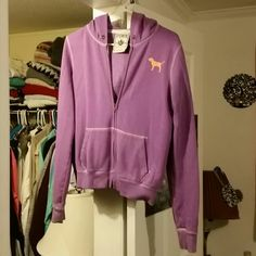 Victoria secret zip up jacket Purple victoria secret jacket missing the drawstring other than that in good condition. PINK Victoria's Secret Jackets & Coats