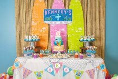 A girly surfing birthday party full of beach inspired decorations, surfing party treats and fun favors? Come catch this birthday wave with us!