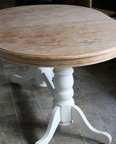 diy refinish an old oak table before after, dining room ideas, diy, painted furniture, woodworking projects