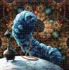 Hookah Smoking Caterpillar #LSD #blotter