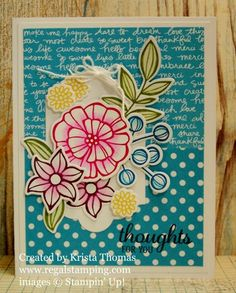 Falling Flowers for Stamp Ink Paper Challenge #58, by Krista Thomas, www.regalstamping.com