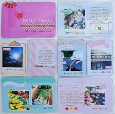 Project Life: Week 25|2014. I used Dear Lizzy's 5th and Frolic and Page Design A. #projectlife #dearlizzy