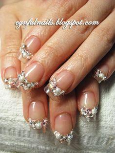 Wedding 3D nail art....