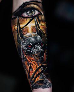 "Explore creative board ""Egyptian Tattoos"" on creativetatto. See more ideas about Egyptian tattoo, Tattoos and Egypt tattoo. Hand Tattoos, Best Sleeve Tattoos, Tattoo Sleeve Designs, Skull Tattoos, Forearm Tattoos, Body Art Tattoos, Best 3d Tattoos, Script Tattoos, Arabic Tattoos"