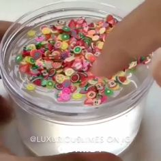 Slime with Sliced Fruit Decorations - Best Diy Projects Le Slime, Fruit Slime, Slimy Slime, Galaxy Slime, Slime Vids, Pretty Slime, Slime And Squishy, Oddly Satisfying Videos, Satisfying Things