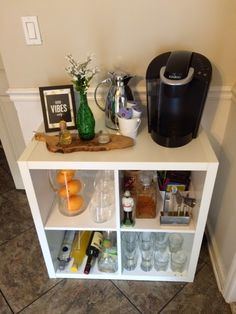 IKEA Hack: cocktail / coffee bar! (Ikea kallax/expedit shelf)