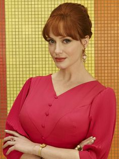 Pin for Later: Time to Analyze Mad Men's Fabulously Retro Season 7 Pictures  Christina Hendricks as Joan Harris.