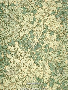 Foliage wallpaper, by William Morris. England, 19th century