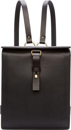 d4a5b660c894 Fleet Ilya Black Leather Medium Harness Backpack