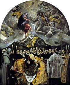 L'Enterrement du Comte d'Orgaz, 1586, par Le Greco (1541-1614) Eglise Santo Tomé, Tolède.