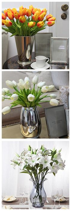 If you always disapported about the flowers are dying so fast, then you can pick these lovely artificial flowers, they are just so real.