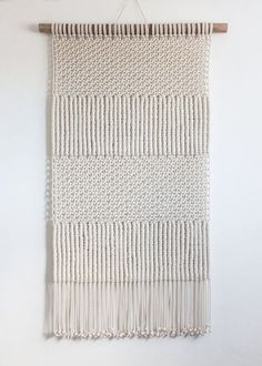 Macrame Wall Hanging  TEXTURED ECRU  100% Cotton Cord