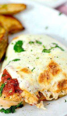 Baked Pesto Chicken Parmesan