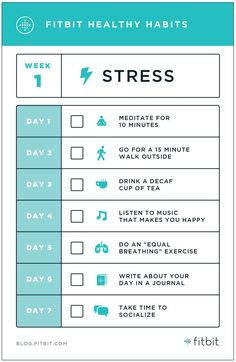 Some tips from Fitbit on healthy habits to combat stress. Healthy Mind, Healthy Habits, Get Healthy, Healthy Lifestyle Tips, Health And Wellness, Health Tips, Health Fitness, Daily Challenges, Woman Workout