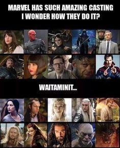 Lord of the Rings/Hobbit and Marvel Films Marvel, Funny Marvel Memes, Marvel Jokes, Dc Memes, Avengers Memes, Marvel Avengers, Memes Humor, Funny Memes, Cartoon Memes