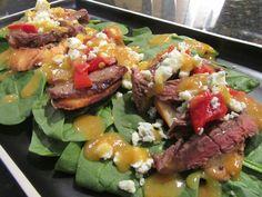 Steak Bruschetta Spinach Salad