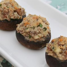 """Sausage Stuffed Mushrooms from @jvillesausage #ad   """"This Johnsonvillle recipe is a must for mushroom fans! The taste of Johnsonville Italian Sausage pairs well with cream cheese, Parmesan cheese, lemon and garlic to create a dish that's bound to please! These stuffed mushrooms are perfect for an appetizer when you're entertaining family and friends."""""""