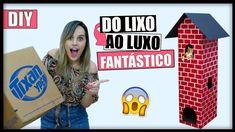 DIY Do LIXO ao LUXO ✂ IDEIA FANTÁSTICA USANDO PAPELÃO  CASTELO PARA GAT...