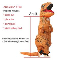 Costumes & Accessories Novelty & Special Use Learned 3d Adult Inflatable Dinosaur Costume Halloween Dress Party Cosplay Suit 4 X Aa Batteries/usb Power Supply Dinosaur Costume Moderate Price
