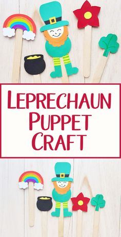 Make a leprechaun puppet using our leprechaun template as a St Patricks Day craft for kids. St Patricks Day Crafts For Kids, St Patrick's Day Crafts, Spring Crafts For Kids, Crafts For Kids To Make, Kids Crafts, March Crafts, Preschool Arts And Crafts, Craft Activities For Kids, Craft Ideas