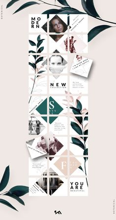 PUZZLE template -Botanical by CreativeFolks on PUZZLE template -Botanical by CreativeFolks on Creating a moodboard using a template in Adobe Illustrator, grid layout and color picker OFF Instagram Feed Layout, Feeds Instagram, Instagram Grid, Instagram Design, Instagram Posts, Insta Posts, Instagram Story, Web Design, Grid Design