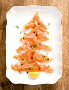 Salmon christmastree as a starter
