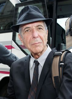 Singer Leonard Cohen arrives at Hotel de Rome in Berlin for a concert in the evening.