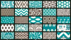 Custom Twin / Full Size Turquoise and Brown Contemporary Duvet Cover on Etsy, $175.00