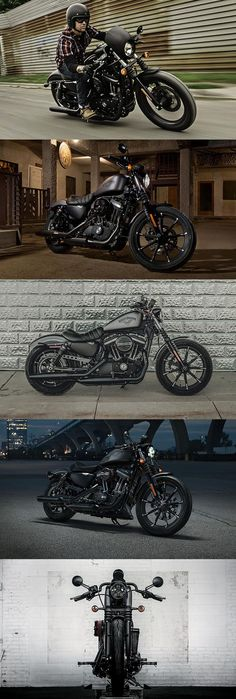 If you thought the Iron 883 couldn't get any darker, you're mistaken. & Harley-Davidson Source by The post If you thought the Iron 883 couldn't get any darker, you're mistaken. Motos Harley Davidson, Harley Davidson Tattoos, Harley Davison, Harley Iron 883, Hd 883 Iron, Bike Motor, Harley Davidson Wallpaper, Custom Motorcycles, Custom Baggers