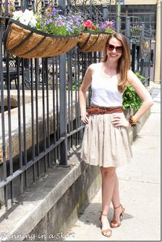 Fashion Friday- Khaki Skirts for Summer | Running in a Skirt