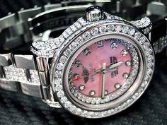 Womens Ladies Diamond Breitling Watch Colt 33mm Custom Bezel Stainless steel     www.ebaystores.com/jewelryking
