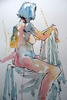 Brusho nude by Joanne Boon Thomas. If you fancy painting images like this head on over to BrushoSecrets.com to find out more about Joanne's tutorials!