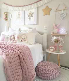 Love the softness of the blush pink for Emma's room