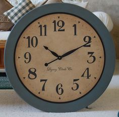 30 inch large wall clock antique style framed Tuscan rustic gallery big personalized by BigClockShop on Etsy https://www.etsy.com/listing/85635584/30-inch-large-wall-clock-antique-style