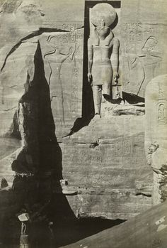 humanoidhistory:Entrance to the Great Temple of Abu Simbel, Nubia, southern Egypt, circa 1862, photo by Francis Frith.(New York Public Library)