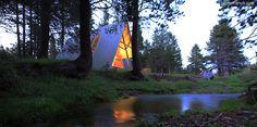 Spacious Luxury Cabin Yosemite National Park | glamping Cabin California | glamping California