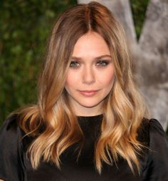 A really subtle ombre hair color.